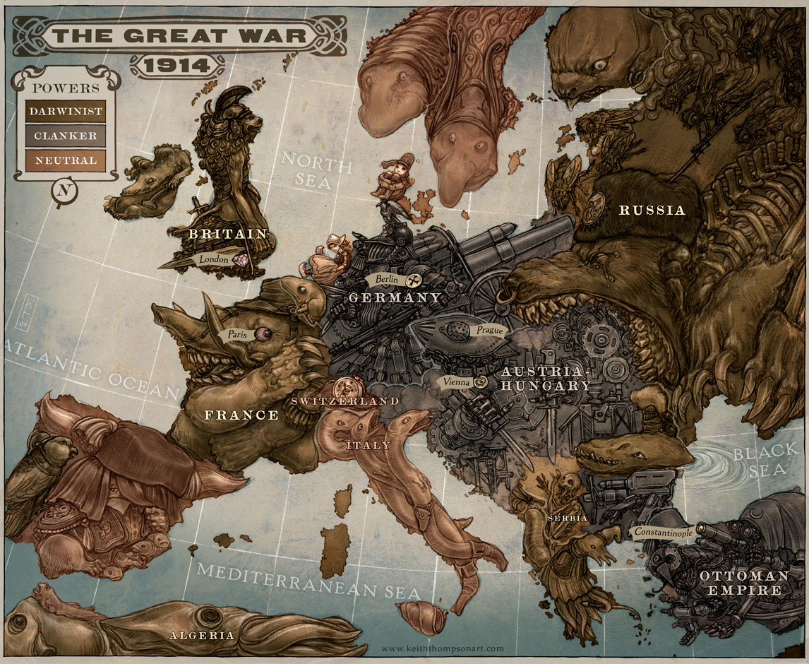 Map of 1914 world war